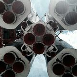 Vostok rocket, ENEA, Moscow / Восток, ВДНХ, Москва. Vostok rocket monument, ENEA, Moscow Royalty Free Stock Photos
