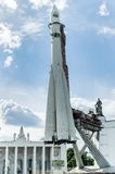Vostok rocket. Exposition on VDNH. Moscow, Russia Royalty Free Stock Photography