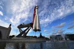 Vostok (rocket) located at the VDNKH Royalty Free Stock Photo