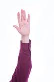 Votación aumentada de la mano Foto de archivo