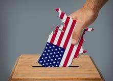 Votación de la mano Fotos de archivo libres de regalías