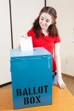 Votación por primera vez fotos de archivo libres de regalías