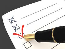 Votación. Una opción correcta Imagen de archivo