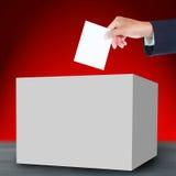 Votación y caja Imagen de archivo
