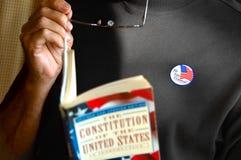 Votante masculino Foto de archivo libre de regalías