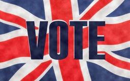 VOTE écrit sur un drapeau britannique de cric des syndicats illustration de vecteur