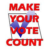 Vote. Make your vote count with tick in box Royalty Free Stock Photo