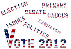Vote 2012 Royalty Free Stock Photography