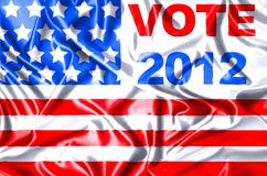 Vote 2012. Illustration Vote USA 2012 in silk cloth Stock Photo
