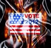 Vote 2012. Illustration Vote USA 2012 in silk cloth Royalty Free Stock Photo