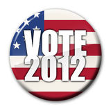 Vote 2012 Badge Stock Photography
