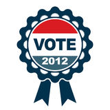 Vote 2012 emblem. With decorative accents Royalty Free Stock Photos