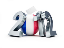 Vote 2012 france. On a white background Royalty Free Stock Images