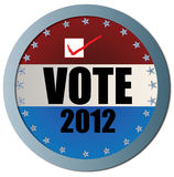 Vote 2012 Web Button Stock Image