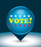 Vote. US presidential election in 2012 Stock Image