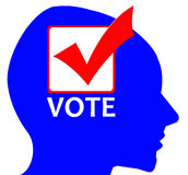 Vote. Making up your mind and casting your vote during elections Royalty Free Stock Photography