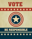 Vote. Voting Symbols 2012 vector design Royalty Free Stock Images