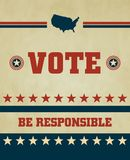 Vote. Voting Symbols 2012 vector design Stock Image