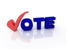 Vote. Text with check mark Royalty Free Stock Photos
