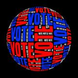 Vote. Text graphics and arrangement concept on white background (word cloud Stock Image