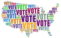 Vote. Text graphics and arrangement concept on white background (word cloud Stock Photo
