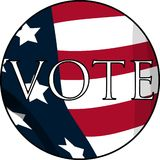 Vote. A vote badge with the stars and stripes Stock Image