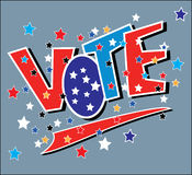 Vote. Big block letters saying VOTE royalty free illustration