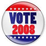 Vote. 3d rendering of a badge to encourage voting Stock Images