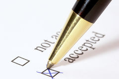 Vote ACCEPTED royalty free stock images