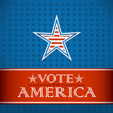 Vote for America. Election poster Stock Photos