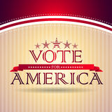 Vote for America. Election poster Stock Images
