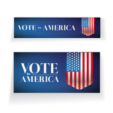Vote for America banner or poster  Royalty Free Stock Images