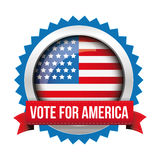 Vote for America - election badge Stock Photos