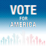Vote for America. Election poster. Royalty Free Stock Images