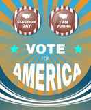 Vote for America Every Vote Counts Banner Royalty Free Stock Image