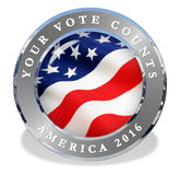 Vote 2016 America. 2016 America Vote Icon Seal USA vector illustration