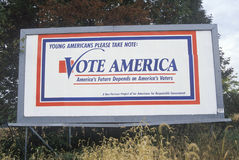 Vote America sign Stock Image