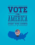 Vote for America vintage poster. Vector royalty free illustration