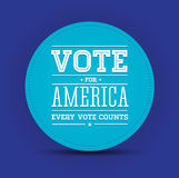 Vote for America vintage poster Royalty Free Stock Images