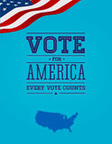 Vote for America vintage poster. Vector stock illustration