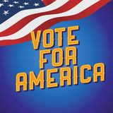Vote for America vintage poster. Vector Stock Photography
