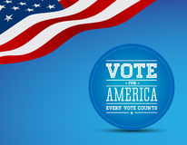 Vote for America vintage poster. Vector vector illustration