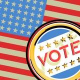 Vote American. Design of vote American message Stock Image