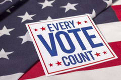 Vote and American Flag. Every Vote count and American Flag Royalty Free Stock Photo