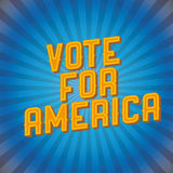 Vote for Ameriva. Retro poster vintage Stock Illustration