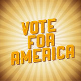 Vote for Ameriva. Retro poster vintage Royalty Free Illustration