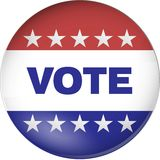 Vote badge Royalty Free Stock Image