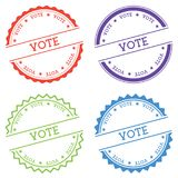 Vote badge isolated on white background. Royalty Free Stock Photo