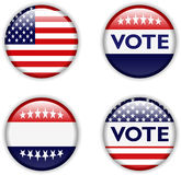 Vote badge for united states Royalty Free Stock Photo