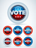 Vote Badges Stock Photos